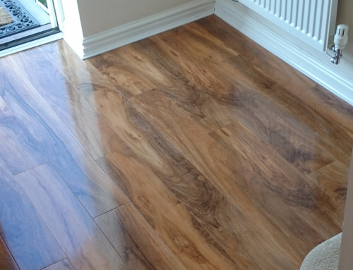 Colours Dolce High Gloss Walnut Effect Laminate